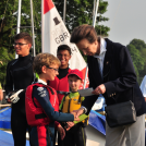 HRH The Princess Royal makes a splash at Redesmere Sailing Club